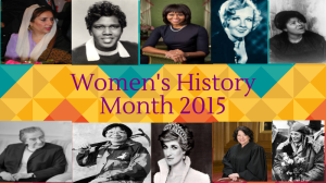 Women's History Month Event @ TBD