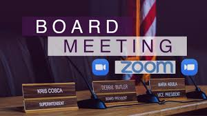 Board Meeting @ via Zoom